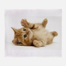 Orange kitten Throw Blanket