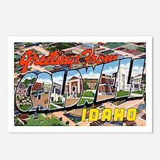 Caldwell Idaho Greetings Postcards (Package of 8)