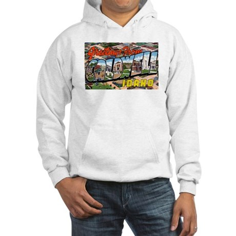 Caldwell Idaho Greetings Hooded Sweatshirt