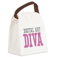 Digital Art DIVA Canvas Lunch Bag