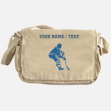 Custom Blue Hockey Player Messenger Bag