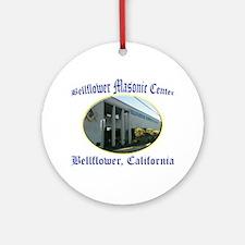 Bellflower Masonic Center Ornament (Round)