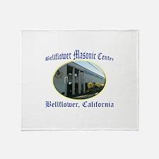 Bellflower Masonic Center Throw Blanket