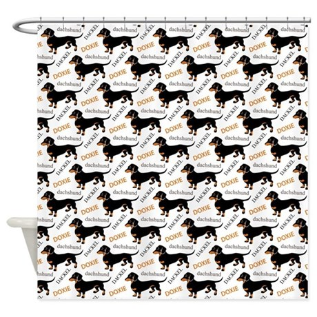 Dachshund Pattern Shower Curtain By Admin CP29858701