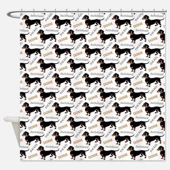 Dachshund Pattern Shower Curtain