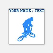 Custom Blue BMX Biker Silhouette Sticker