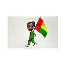 Guinea-Bissau Girl Rectangle Magnet