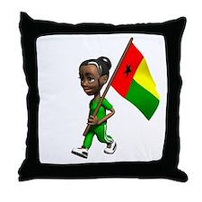 Guinea-Bissau Girl Throw Pillow