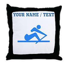 Custom Blue Crew Throw Pillow
