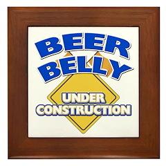 Beer Belly Under Construction Framed Tile
