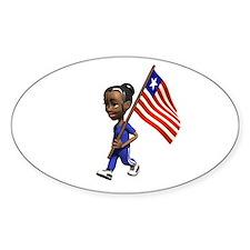 Liberia Girl Oval Decal
