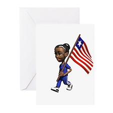 Liberia Girl Greeting Cards (Pk of 10)
