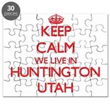 Keep calm we live in Huntington Utah Puzzle