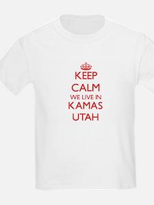 Keep calm we live in Kamas Utah T-Shirt