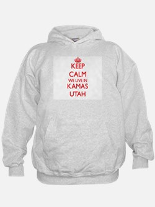 Keep calm we live in Kamas Utah Hoodie