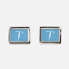 IUD Pattern Rectangular Cufflinks