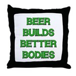 Beer Belly Under Construction Throw Pillow