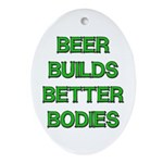Beer Belly Under Construction Oval Ornament
