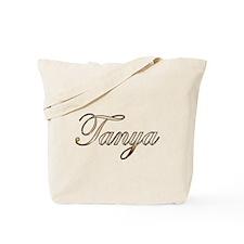 Gold Tanya Tote Bag