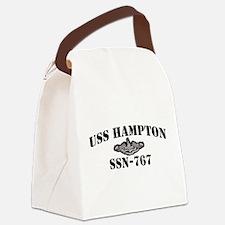 USS HAMPTON Canvas Lunch Bag