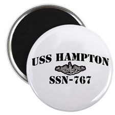 USS HAMPTON Magnets