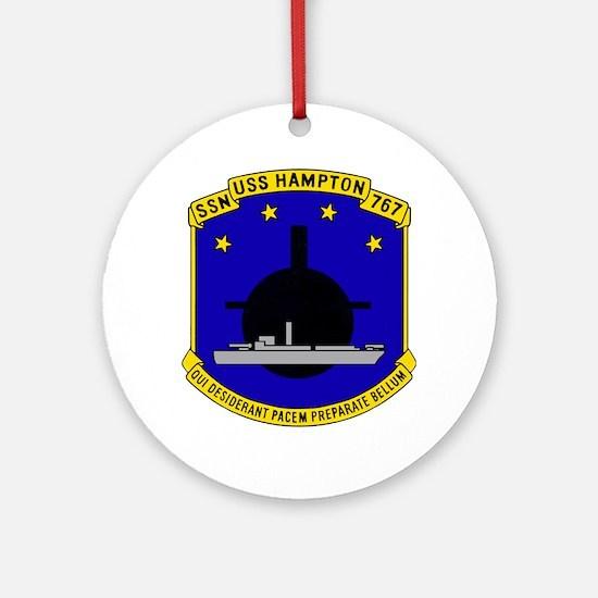 USS HAMPTON Ornament (Round)
