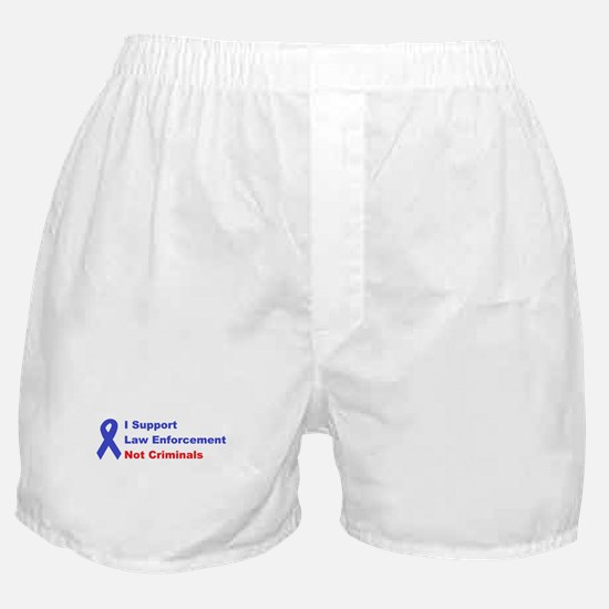 support law enforcement Boxer Shorts