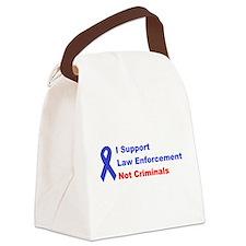 support law enforcement Canvas Lunch Bag