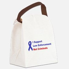 support law enforcement Canvas Lunch Bag