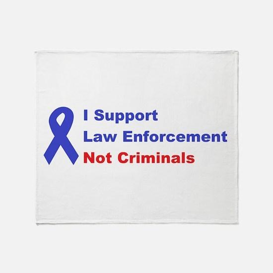 support law enforcement Throw Blanket
