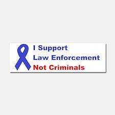support law enforcement Car Magnet 10 x 3