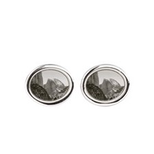 Half Dome in Winter Oval Cufflinks