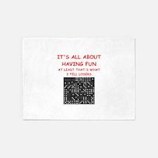 dominoes joke 5'x7'Area Rug