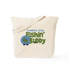 Grandpa's Little Fishin' Buddy Tote Bag