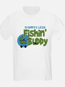 Grandpa's Little Fishin' Buddy T-Shirt