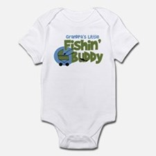 Grandpa's Little Fishin' Buddy Infant Bodysuit