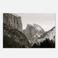 Half Dome in Winter Postcards (Package of 8)