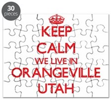 Keep calm we live in Orangeville Utah Puzzle