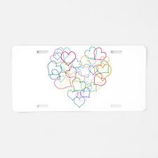Valentine Wishes Aluminum License Plate