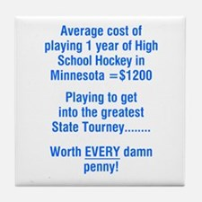 MN High School Hockey Tile Coaster