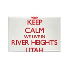 Keep calm we live in River Heights Utah Magnets