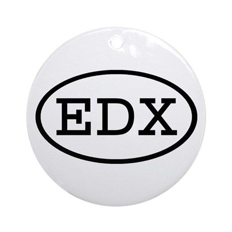 EDX Oval Ornament (Round)