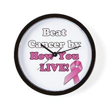 Beat Cancer Wall Clock