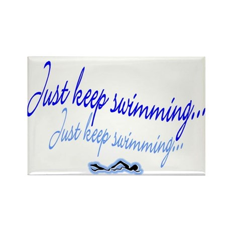 Just keep swimming Rectangle Magnet (10 pack)