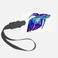 Beta Fish for Polygon Mosaic Blu Luggage Tag
