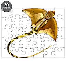 Gold Manta Sting Ray Puzzle