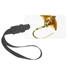 Gold Manta Sting Ray Luggage Tag