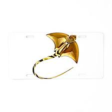 Gold Manta Sting Ray Aluminum License Plate