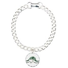 Diving Green Sea Turtle Charm Bracelet, One Charm