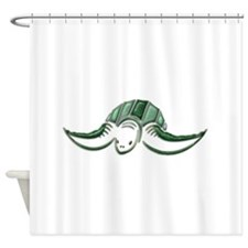 Diving Green Sea Turtle Shower Curtain